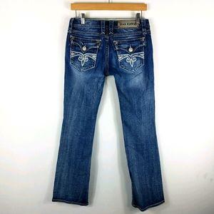 Rock Revival Sara Boot Rhinestone Sequin Jeans